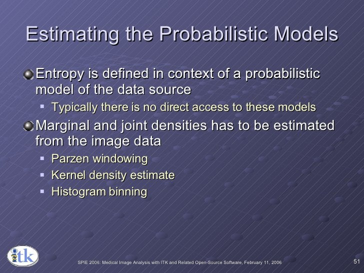 Estimating the Probabilistic Models <ul><li>Entropy is defined in context of a probabilistic model of the data source </li...