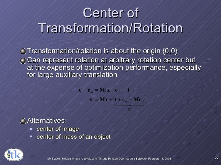 Center of Transformation/Rotation <ul><li>Transformation/rotation is about the origin {0,0} </li></ul><ul><li>Can represen...