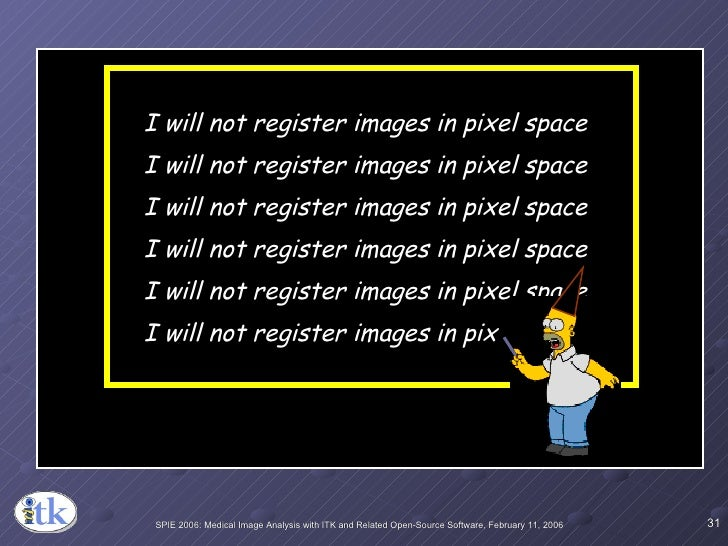 I will not register images in pixel space I will not register images in pixel space I will not register images in pixel sp...