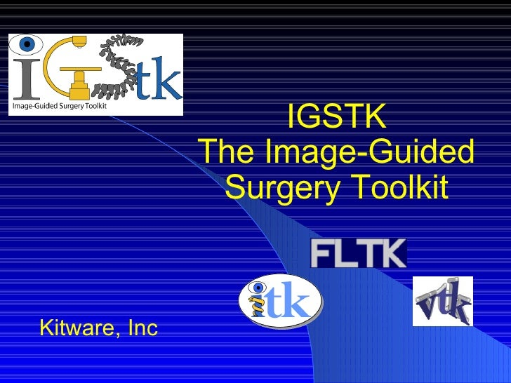 IGSTK The Image-Guided Surgery Toolkit Kitware, Inc