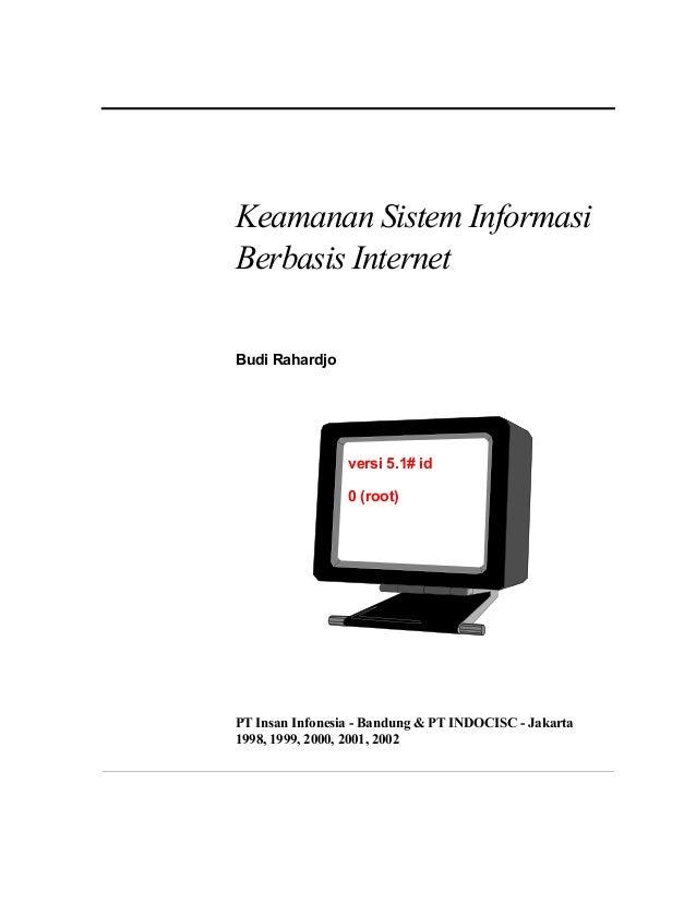 Keamanan Sistem Informasi Berbasis Internet Budi Rahardjo  versi 5.1# id 0 (root)  PT Insan Infonesia - Bandung & PT INDOC...