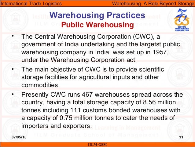the role of warehousing in logistics Warehousing education and research council is the only professional association focused exclusively on distribution and warehouse management and its role in the.