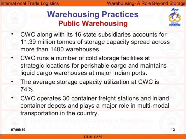 07/05/10 12 • CWC along with its 16 state subsidiaries accounts for 11.39 million tonnes of storage capacity spread across...