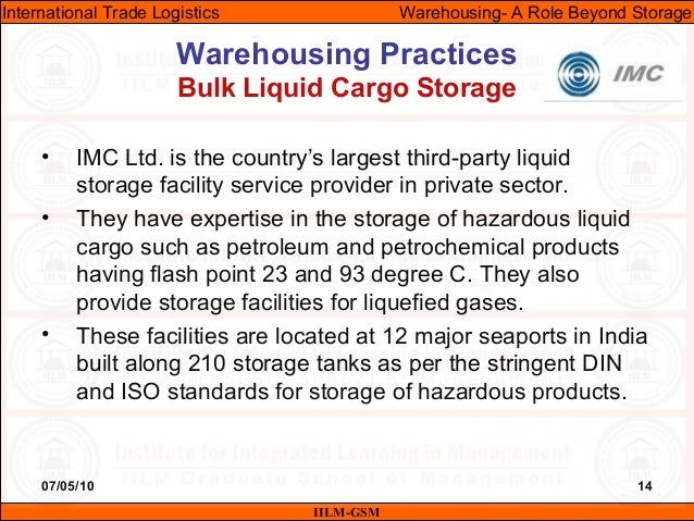 07/05/10 14 • IMC Ltd. is the country's largest third-party liquid storage facility service provider in private sector. • ...