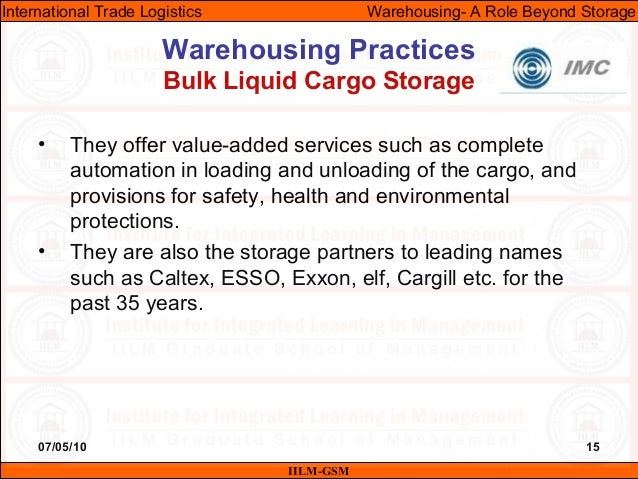 07/05/10 15 • They offer value-added services such as complete automation in loading and unloading of the cargo, and provi...