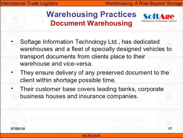 07/05/10 17 • Softage Information Technology Ltd., has dedicated warehouses and a fleet of specially designed vehicles to ...