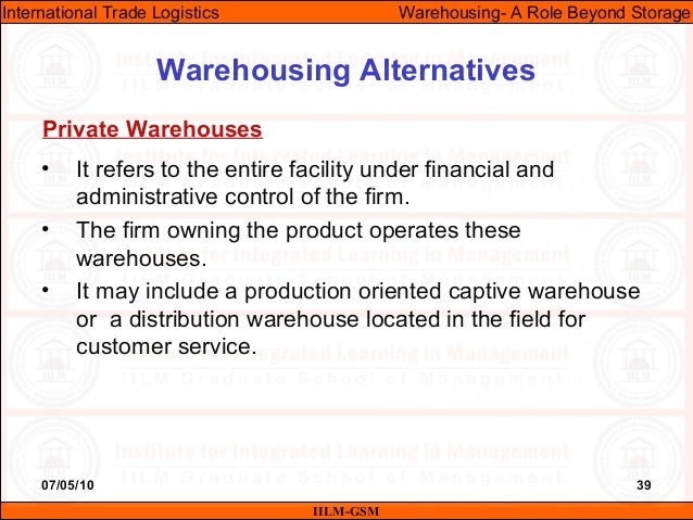 07/05/10 39 • It refers to the entire facility under financial and administrative control of the firm. • The firm owning t...