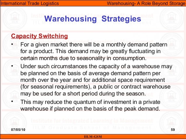 07/05/10 59 Capacity Switching • For a given market there will be a monthly demand pattern for a product. This demand may ...