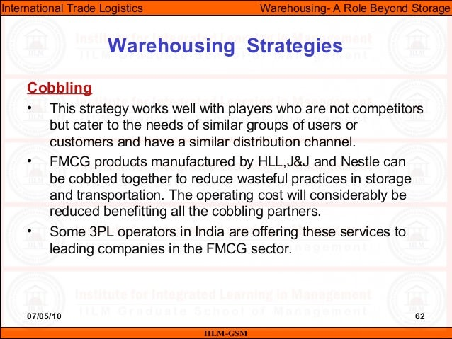 07/05/10 62 Cobbling • This strategy works well with players who are not competitors but cater to the needs of similar gro...