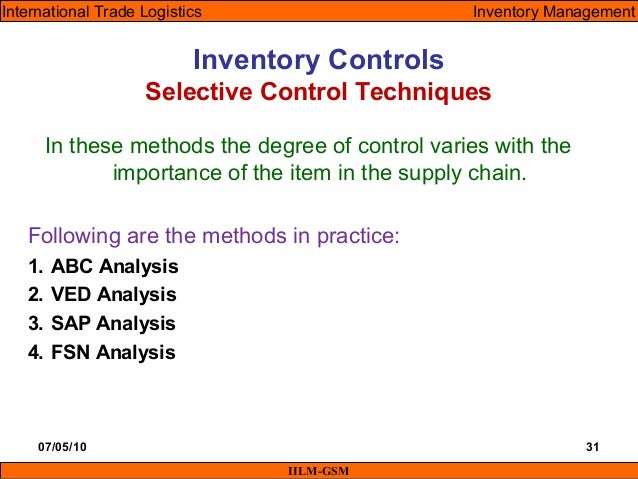 Itl Lecture 12 Amp 13 Inventory Management