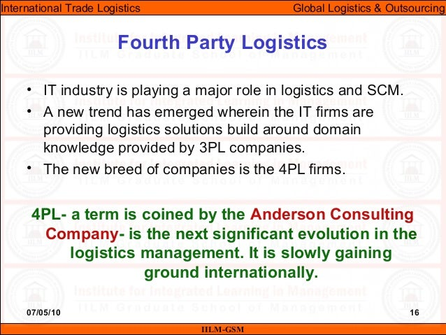 Itl lecture-23 & 24 (global logistics & outsourcing)