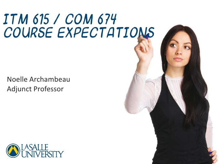 ITM 615 Course Expectations