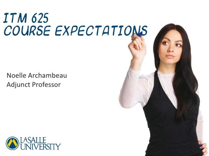 Course Expectations<br />La Salle University<br />