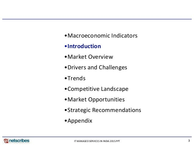 Market Research Report : It managed services in india 2015 - Sample Slide 3