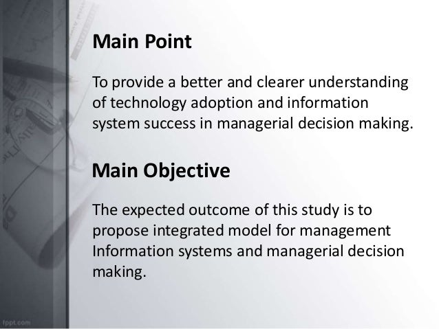 management information systems in decision making management essay Advantages and disadvantages of using computer technology in decision making essay sample what are some advantages and disadvantages to using computer technology in decision making.