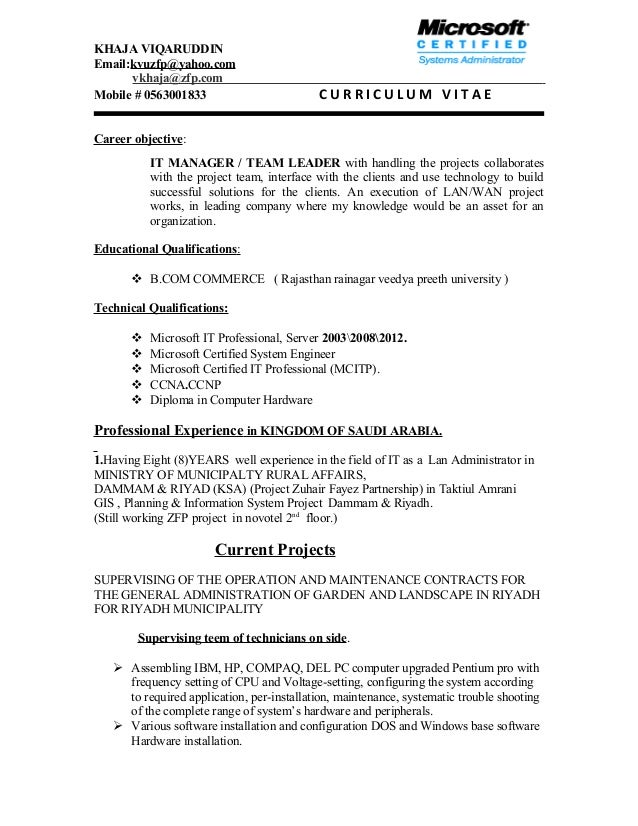Template Resume Team Leader With Pictures Large Size Curriculum Vitae  Career Cover Letter
