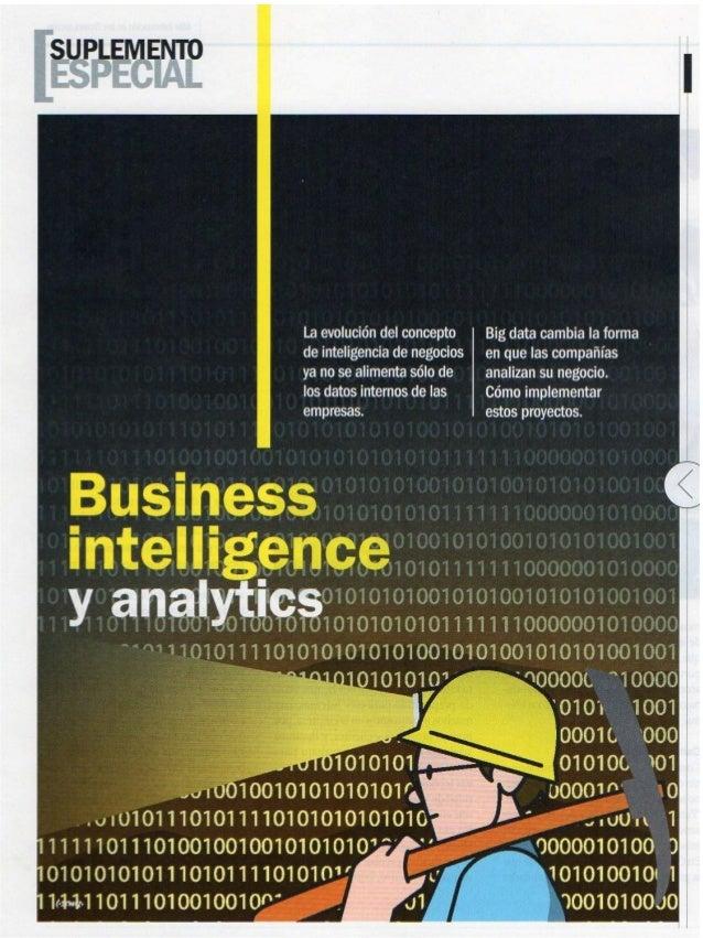 Business Intelligence y Analytics: La utilidad más rentable.