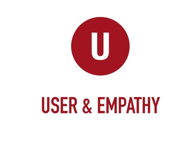 Meaningful innovation start with USERS