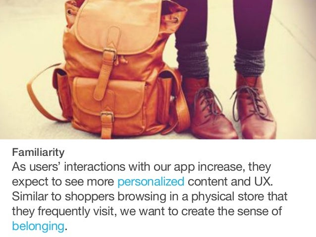 This app should created delightful UX and surprises within our interactions. Using our app should be fun. Delight