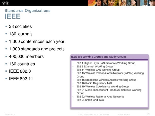 Standards Organizations  IEEE   38 societies   130 journals   1,300 conferences each year   1,300 standards and projec...