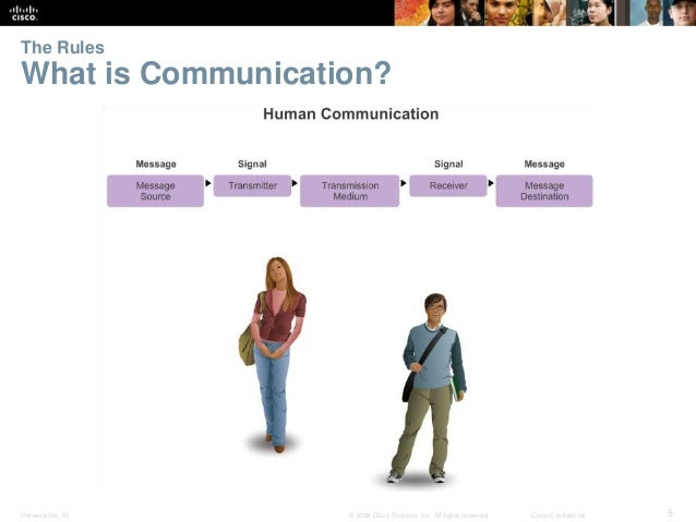 The Rules  What is Communication?  Presentation_ID © 2008 Cisco Systems, Inc. All rights reserved. Cisco Confidential 5