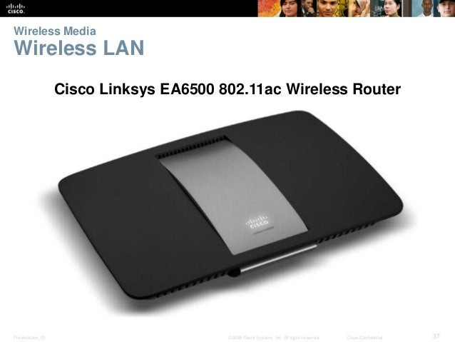 Wireless Media  Wireless LAN  Cisco Linksys EA6500 802.11ac Wireless Router  Presentation_ID © 2008 Cisco Systems, Inc. Al...