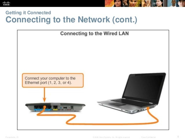 Getting it Connected  Connecting to the Network (cont.)  Presentation_ID © 2008 Cisco Systems, Inc. All rights reserved. C...