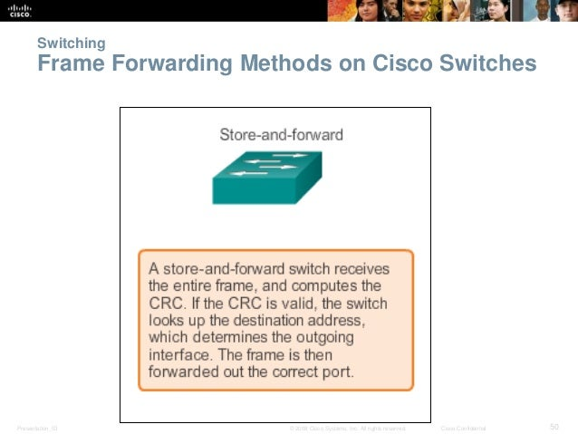 Switching  Frame Forwarding Methods on Cisco Switches  Presentation_ID © 2008 Cisco Systems, Inc. All rights reserved. Cis...