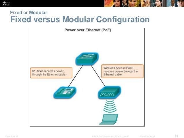 Fixed or Modular  Fixed versus Modular Configuration  Presentation_ID © 2008 Cisco Systems, Inc. All rights reserved. Cisc...