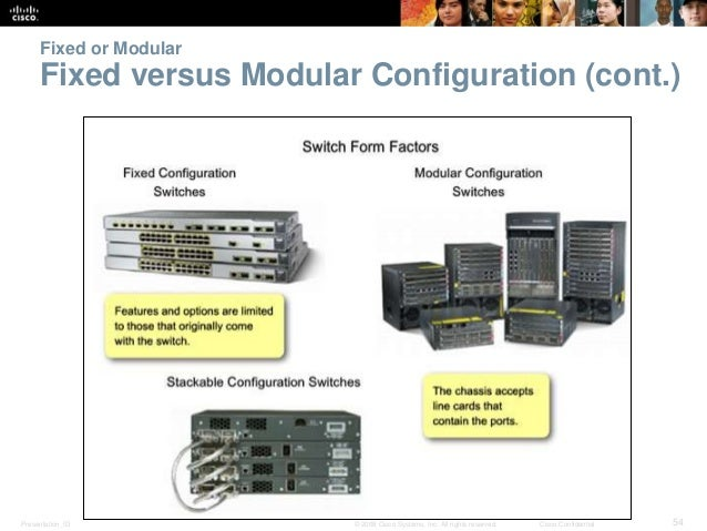 Fixed or Modular  Fixed versus Modular Configuration (cont.)  Presentation_ID © 2008 Cisco Systems, Inc. All rights reserv...