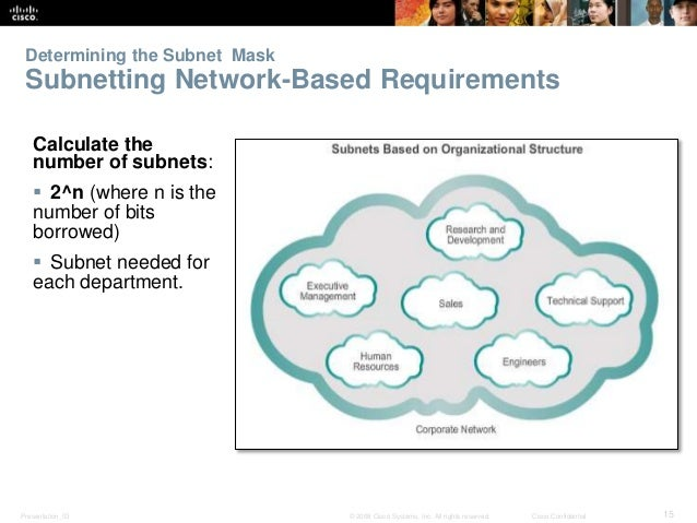Determining the Subnet Mask  Subnetting Network-Based Requirements  Calculate the  number of subnets:   2^n (where n is t...