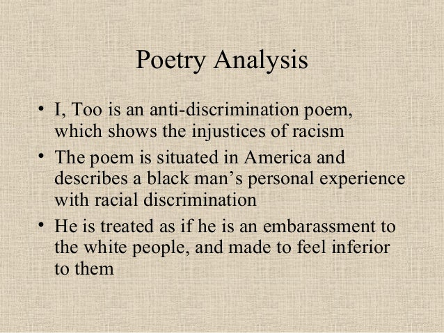 i too poem summary