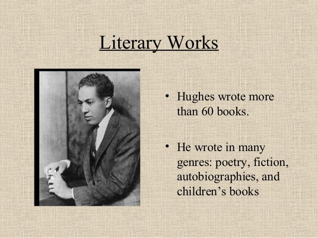 an introduction to the life and literature by hughes The late william hughes was professor and chair in the  an introduction to critical  colonial and post-colonial literature (34) life writing (22.