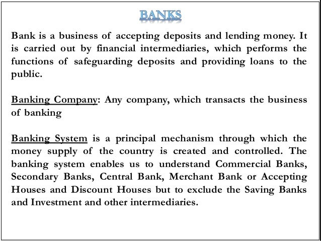 an introduction to the topic of money its functions and the banking system Money and banking 40  and functions of money topics include a survey of the operation and development of the banking system in the us and an introduction to.