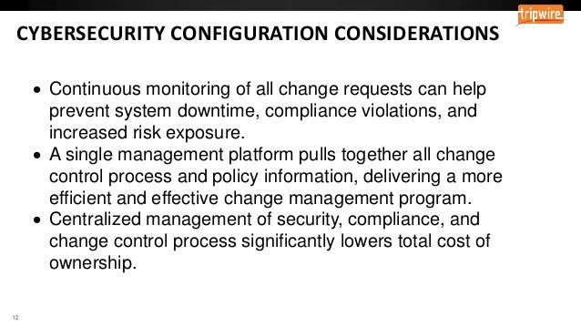 Leveraging Change Control for Security
