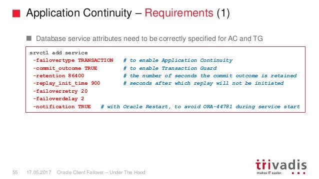 Oracle Client Failover - Under The Hood