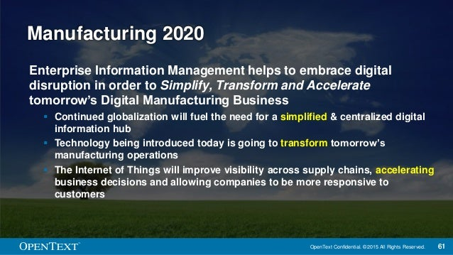 Technology Management Image: Digital Disruption Across Tomorrow's Manufacturing Supply