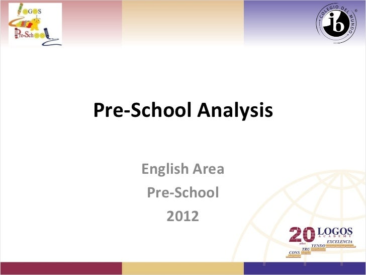 Pre-School Analysis     English Area      Pre-School         2012