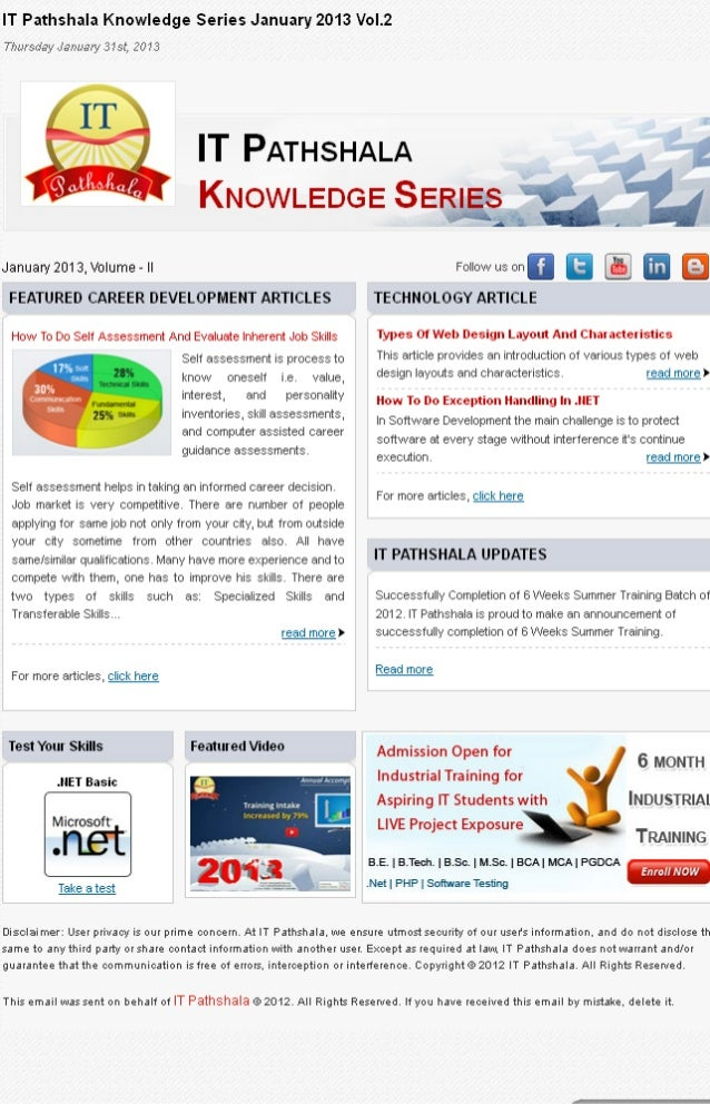 IT Pathshala Knowledge Series January 2013 Vol.2