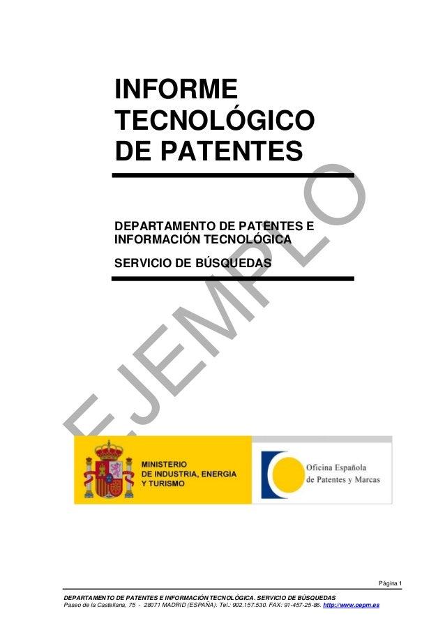 INFORME                  TECNOLÓGICO                  DE PATENTES                                         O               ...