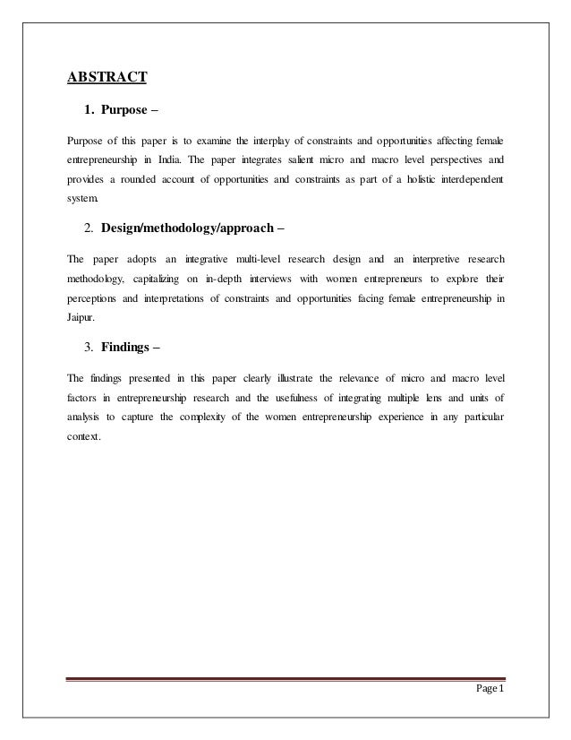 abstract for a term paper