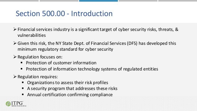 Financial services industry is a significant target of cyber security risks, threats, & vulnerabilities Given this risk,...