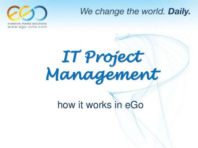 IT Project Management how it works in eGo