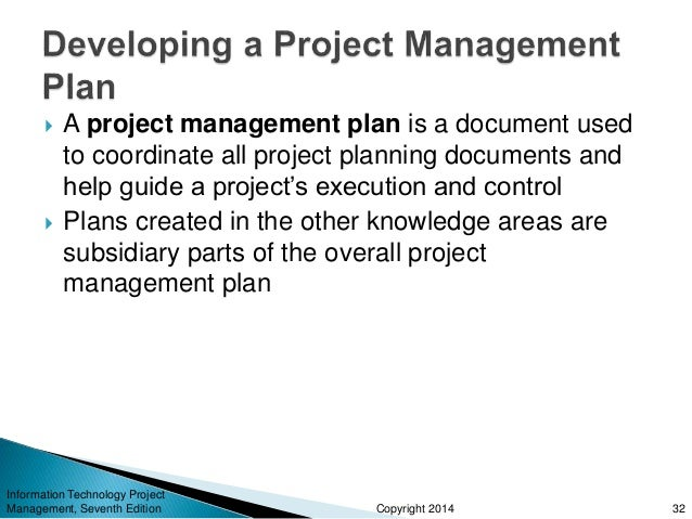 Technology Project Plan : Information technology project management part