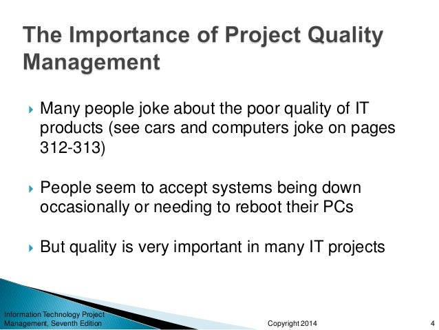 project scope management is important aspect information technology essay Why stakeholder management  you will be better able to keep a lid on scope creep, ensure project  she is also a twenty-year information technology.