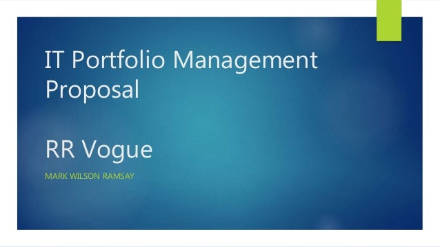 portfolio management case study A case study shows a six-year timeline of how a life sciences company enhanced  its r&d portfolio management process and, in doing so,.