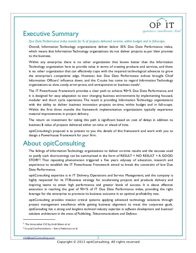 Executive SummaryDue Date Performance index stands for % of projects delivered on-time, within budget and in full-scope.Ov...
