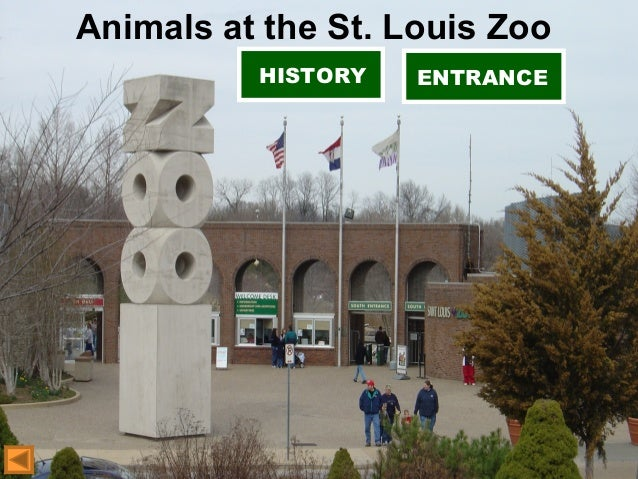 Animals at the St. Louis Zoo HISTORY ENTRANCE