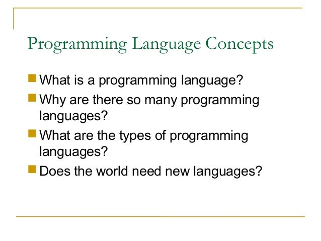 Software Development And Programming Languages - What languages are there