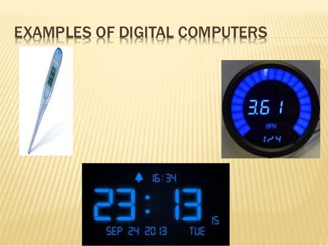 Analog computers digital computers & Hybrid computers